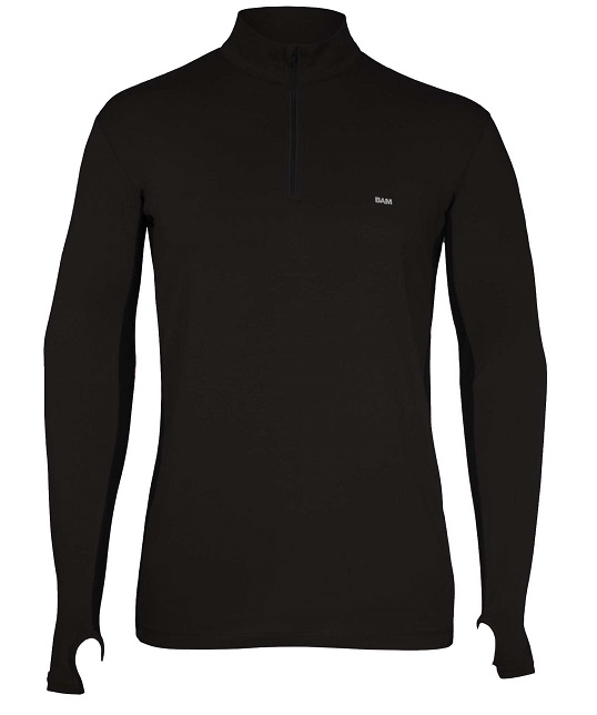 Heren Baselayer met ritskraag