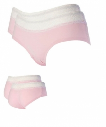 Dames 2 st bamboe Hipster Pink